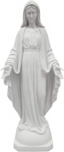 Our Lady of Grace Statue White Marble Composite - 23.5 inch [VIC1071]