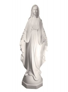 Our Lady of Grace Statue White Marble Composite 45 Inch [VIC1100]