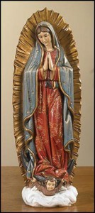 Our Lady of Guadalupe 9 Inch High Statue [CBST069]