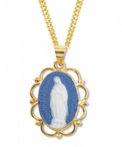 Our Lady of Guadalupe Cameo Necklace [HMM3353]