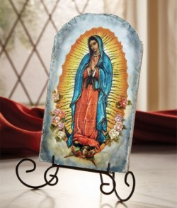 "Our Lady of Guadalupe Tile Plaque 8.5"" High [CBPL003]"