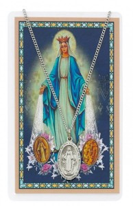 Our Lady of the Miraculous Medal with Prayer Card [PC0114]
