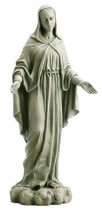 "Our Lady Of Grace Garden Statue 24"" High [CBSD019]"