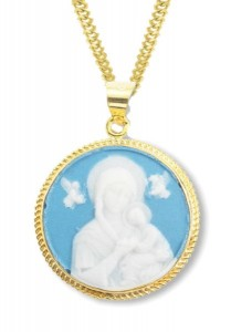 Our Lady of Perpetual Help Cameo Necklace [HMM3358]