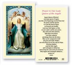 Our Lady Queen of The Angels Laminated Prayer Cards 25 Pack [HPR240]