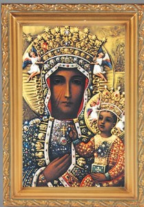 Our Lady of Czestochowa Antique Gold Framed Print [HFA0065]