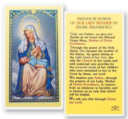 Our Lady of Divine Providence Laminated Prayer Cards 25 Pack [HPR278]