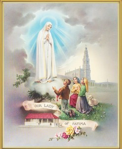 Our Lady of Fatima Gold Framed Print [HFA0150]
