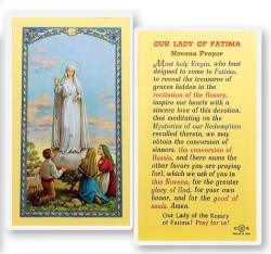 Our Lady of Fatima - Novena Laminated Prayer Cards 25 Pack [HPR259]