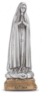 Our Lady of Fatima Pewter Statue 4 Inch [HRST225]