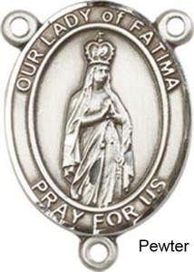 Our Lady of Fatima Rosary Centerpiece Sterling Silver or Pewter [BLCR0307]