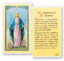 Our Lady of Grace Memory of St. Bernard Prayer Cards [HPR253]