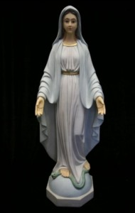 Our Lady of Grace Statue Hand Painted Marble Composite - 40 inch [VIC3145]