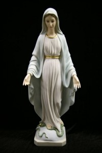 Our Lady of Grace Statue Light Blue Dress - 19 inch [VIC8001]
