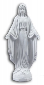 Our Lady of Grace White Statue - 10 Inches [GSCH1106]