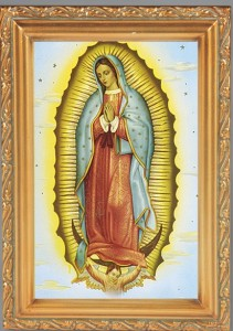 Our Lady of Guadalupe Antique Gold Framed Print [HFA0058]