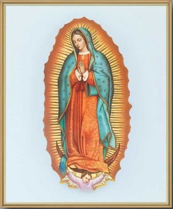 Our Lady of Guadalupe Gold Framed Print [HFA0178]