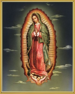 Our Lady of Guadalupe Gold Framed Print [HFA0242]