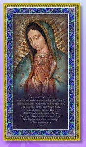 Our Lady of Guadalupe Italian Prayer Plaque [HPP008]