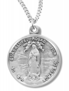 Our Lady of Guadalupe Medal Sterling Silver [REM2085]