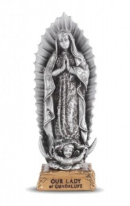 Our Lady of Guadalupe Pewter Statue 4 Inch [HRST216]