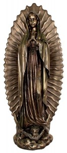 Our Lady of Guadalupe Statue, Bronzed Resin - 27 inch [GSS050]