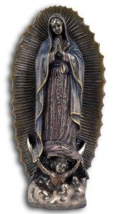 Our Lady of Guadalupe Statue in Bronzed Resin - 9.5 inches [GSCH022]