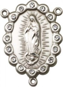 Our Lady of Guadalupe Sterling Silver Rosary Centerpiece [BLCR0138]