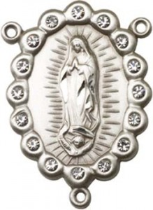 Our Lady of Guadalupe Sterling Silver Rosary Centerpiece [BLCR0134]