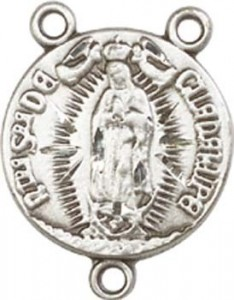 Our Lady of Guadalupe Sterling Silver Rosary Centerpiece [BLCR0158]