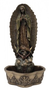Our Lady of Guadalupe Water Font - 7 1/2 inch [GSS052]