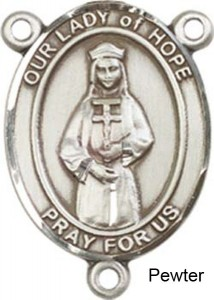 Our Lady of Hope Rosary Centerpiece Sterling Silver or Pewter [BLCR0331]