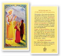 Our Lady of La Salette Laminated Prayer Cards 25 Pack [HPR294]