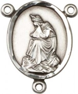 Our Lady of La Salette Sterling Silver Rosary Centerpiece [BLCR0115]