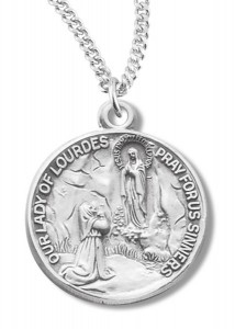 Our Lady of Lourdes Medal Sterling Silver [REM2092]