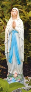 Our Lady of Lourdes Statue 17.5 Inches [MSA0004]