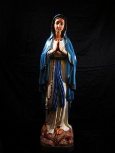 Our Lady of Lourdes Statue Hand Painted - 39 inch [VIC1412]