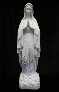 Our Lady of Lourdes Statue White Marble Composite - 39 inch [VIC4004]