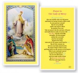 Our Lady of Mercy Laminated Laminated Prayer Cards 25 Pack [HPR292]