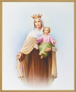Our Lady of Mt. Carmel Gold Framed Print [HFA0161]