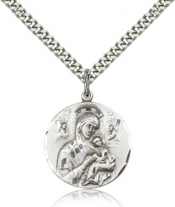 Round Our Lady of Perpetual Help Pendant [CM2209]
