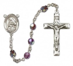Our Lady of Providence Sterling Silver Heirloom Rosary Squared Crucifix [RBEN0043]