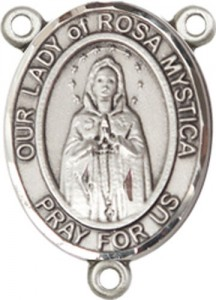 Our Lady of Rosa Mystica Rosary Centerpiece [BLRC8413]