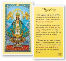 Our Lady of San Juan - An Offering Laminated Prayer Cards 25 Pack [HPR263]