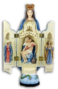 Our Lady of Sorrows Triptych, Hand Painted - 11 inch [GSS087]
