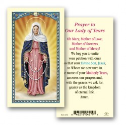 Our Lady of Tears Laminated Prayer Cards 25 Pack [HPR232]