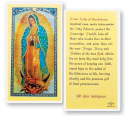 Our Lady of The Guadalupe Laminated Prayer Cards 25 Pack [HPR250]