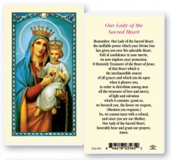 Our Lady of The Sacred Heart Laminated Prayer Cards 25 Pack [HPR903]