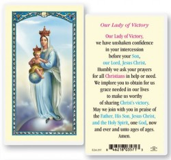 Our Lady of Victory Laminated Prayer Cards 25 Pack [HPR297]