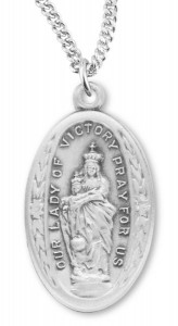 Our Lady of Victory Medal Sterling Silver [REM2098]